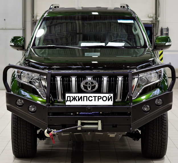 Передний силовой бампер Land Cruiser Prado 150
