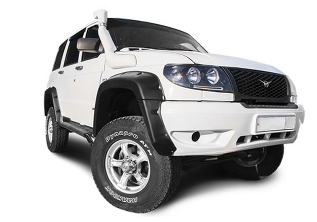 Расширители колёсных арок УАЗ Патриот (перед 95 мм, зад 80 мм)