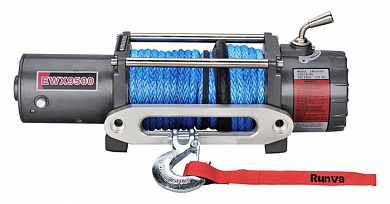Лебедка электрическая12V Runva 9500 lbs 4350 кг (кевлар)