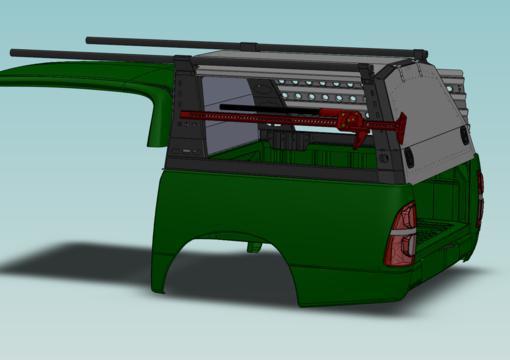 Двери и крыша для каркаса грузового многофункционального - Toyota Hilux