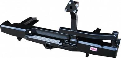 Бампер задний Nissan NP300 с квадратом под фаркоп и калиткой кузов 1385/1395 мм