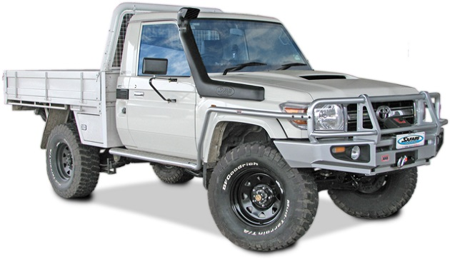Шноркель Safari для Toyota Land Cruiser 70. On - 1VD V8 Turbo Diesel - Replacement For OE Snorkel.