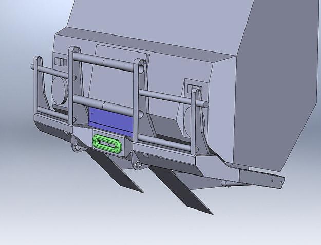 Переднийсиловой бампер Volvo Laplander
