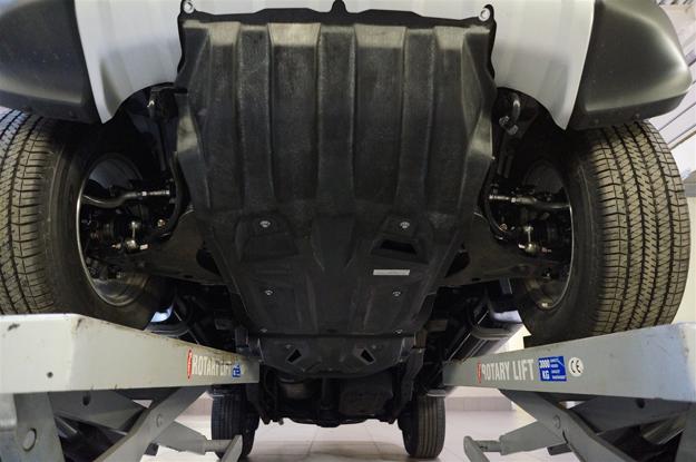 Защита картера двигателя и кпп Mitsubishi Pajero(Митсубиши Паджеро)Sport,V-2,5TD,КПП-все(08-)/ L200 ,V-2,5TD,КПП-все(06-15)+РК из 2-х частей