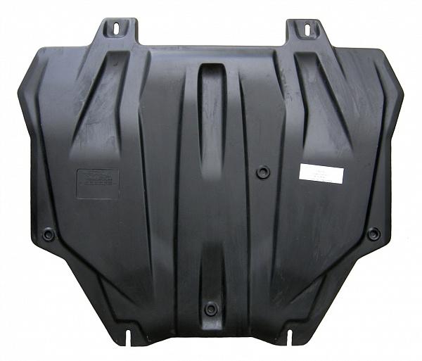 Защита картера двигателя и кпп Mitsubishi Outlander(Митсубиши Аутлендер)XL V-все кр.3,0(06-12)/Lancer(07-)/ASX V-все(10-)/Peugeot4008 (композит 6 мм)