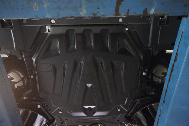 Защита картера двигателя и кпп Mitsubishi Outlander (Митсубиши Аутлендер) V-3,0 (2013-10.2015) (композит 8 мм)