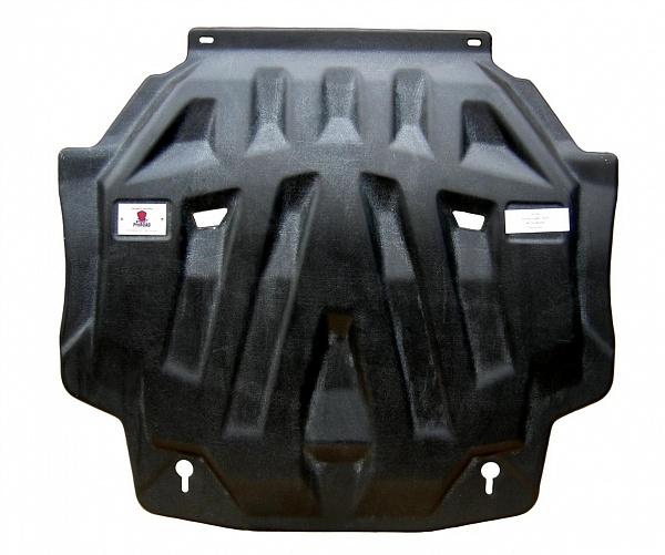 Защита картера двигателя и кпп Mitsubishi Outlander (Митсубиши Аутлендер) V-2.0; 2.4 (2012-2015-) (композит 6 мм)