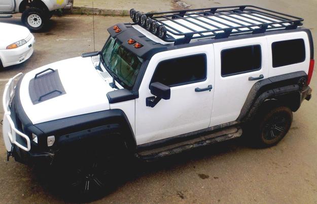 Алюминиевый багажник Hummer H3 люкс c оригинальными креплениями