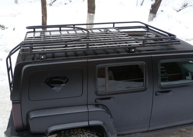 Алюминиевый багажник Hummer H3 Люкс