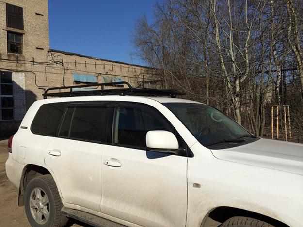 Алюминиевый багажник Toyota Land Cruiser 200