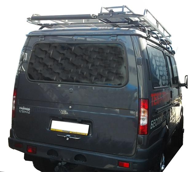Багажник (усиленный) для а/м Баргузин с выдвижной лесенкой