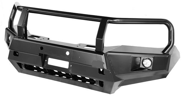 Бампер РИФ передний Toyota Hilux 2015+ с доп. фарами и защитной дугой