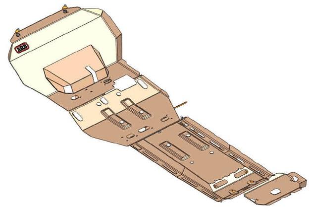 Защита днища ARB для автомобиля Ford Ranger PX с 2011 года