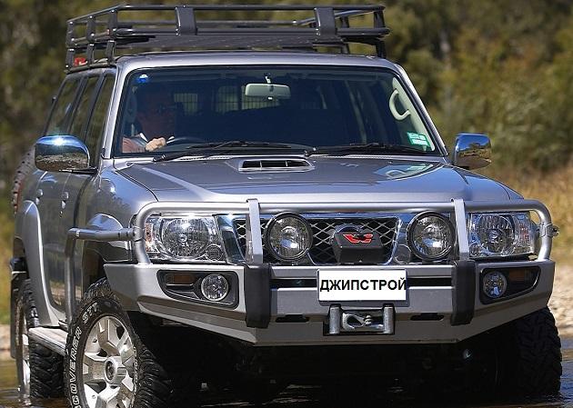 Пороги ARB с защитой крыла для Nissan Patrol Y61 LWB.