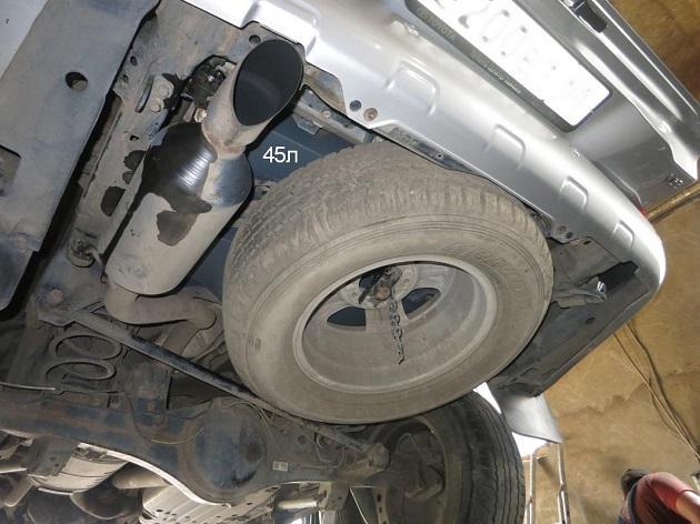 Дополнительный топливный бак 45 литров для Toyota LC 200