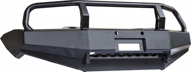 Бампер РИФ передний Mitsubishi L200 2005-2015/Pajero Sport с защитной дугой