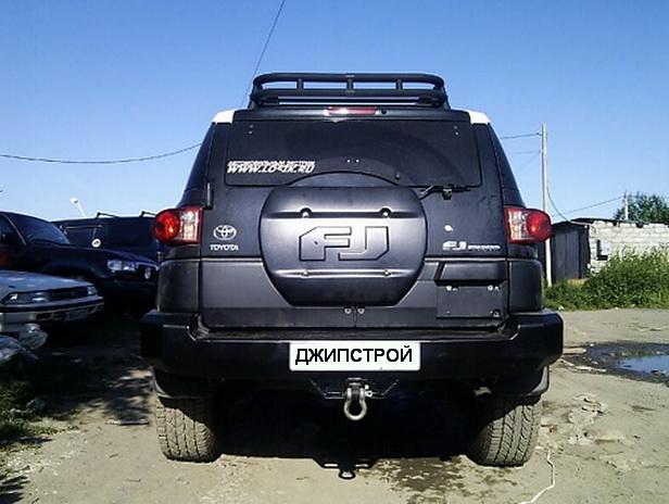 Задний силовой бампер Toyota FJ Cruiser
