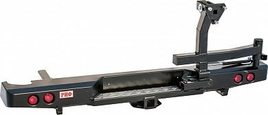 Бампер задний Nissan Navara D40 с квадратом под фаркоп, калиткой и фонарями