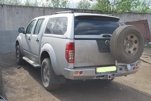 Задний силовой бампер Nissan Navara