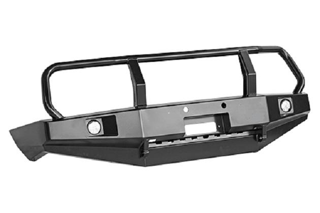 Бампер РИФ передний Toyota Land Cruiser 100 с фарами и защитной дугой