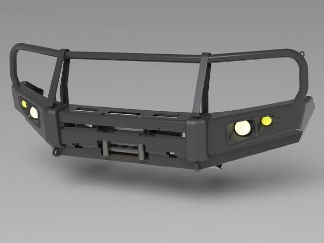 Силовой бампер передний Toyota Land Cruiser 200 (серия Т)