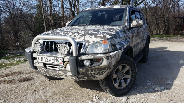 Передний силовой бампер Land Cruiser Prado 120 (Китай) копия ARB