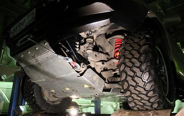 Защита радиатора, поддона двигателя, раздатки , коробки Toyota Land Cruiser Prado АМЗ