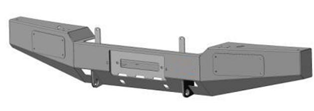 Передний силовой бампер с площадкой лебёдку УАЗ