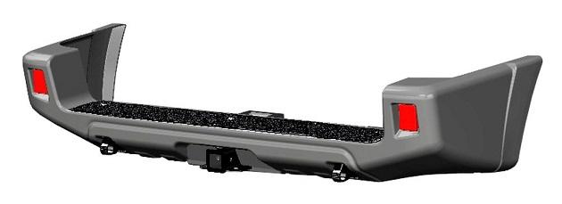 Бампер АВС-Дизайн задний с квадратом под фаркоп УАЗ Патриот