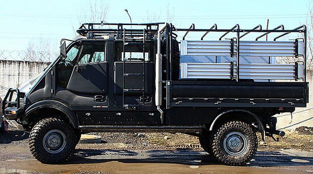 Багажник на кабину с площадкой под лебедку Бремах T-REX