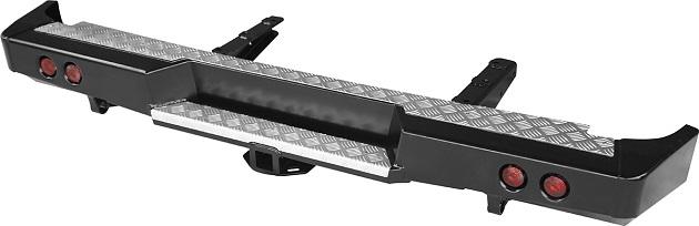 Бампер РИФ задний ГАЗ Соболь с квадратом под фаркоп и фонарями
