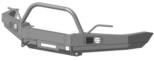 Силовой бампер передний на Газель Соболь 4х4