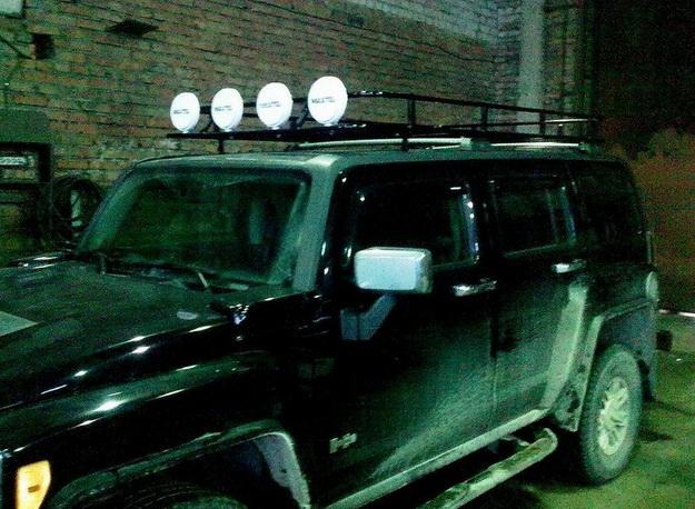 Силовой багажник на Hummer H3