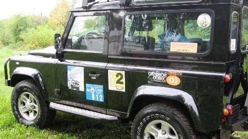 Силовые пороги на Land Rover Defender 90, 110