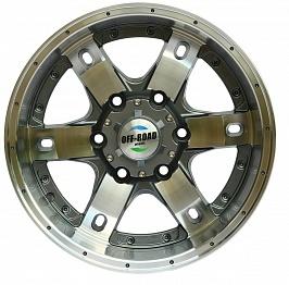Диск Тойота Ниссан литой серый 6x139,7 8xR16 d110 ET+10