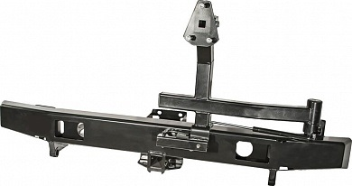 Бампер задний УАЗ Хантер с квадратом под фаркоп и калиткой лифт
