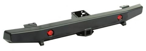 Бампер задний для УАЗ Хантер с квадратом под фаркоп и фонарями (лифт)