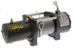 Лебедка Electric Winch (RunningMan) 6000 lbs/2500kg 12v (3контакта) аналог 9,5 и 12000ЛБС с укороченным барабаном, влагозащита IP68