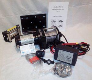 Лебедка электрическая 12V Electric Winch 12000lbs / 5443 кг SC12OX моноблок соленойдов