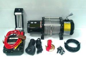 Лебедка Electric Winch 12000 lbs/4500kg 12v, черная - порошковая окраска