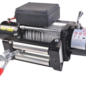 Лебедка Electric Winch 12000 lbs/4500kg 12v серая LB