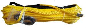 Трос синтетический для лебедки 10мм*30м (+крюк)