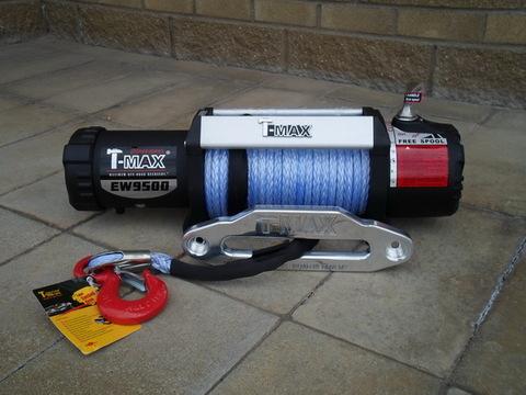 Лебедка HEW-9500 X Power электрическая 12В с синтетическим тросом