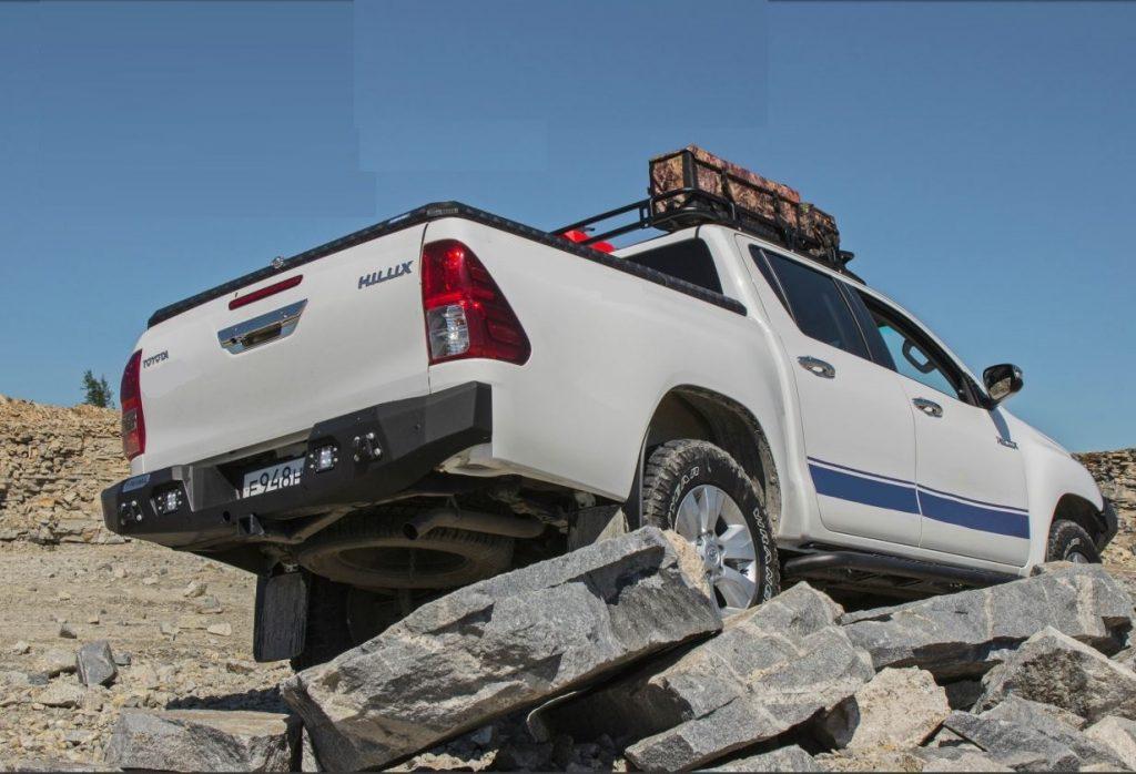 Бампер силовой задний AL для Тойота Хайлюкс Рево