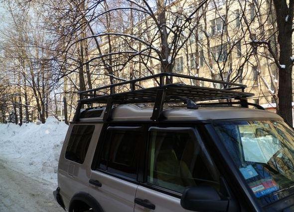 Алюминиевый силовой багажник Land Rover Discovery II
