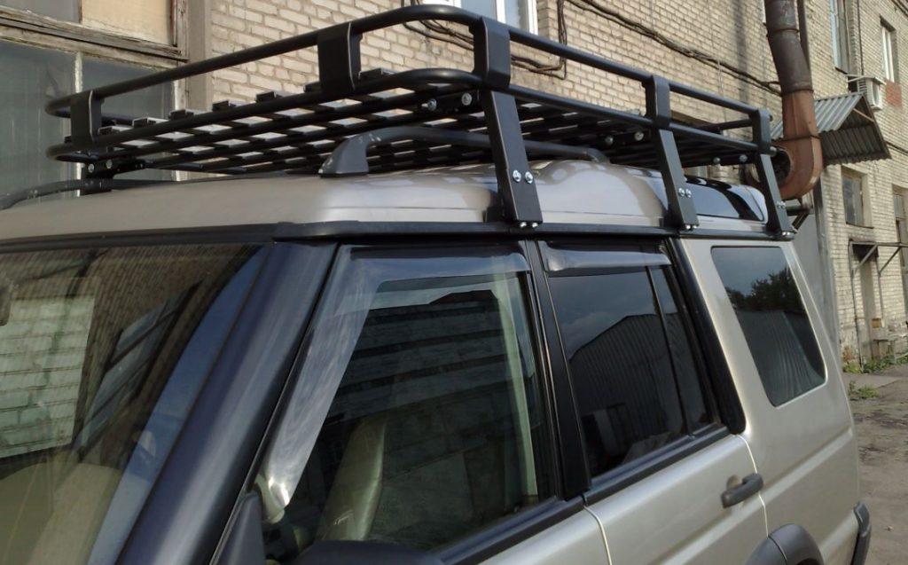 Алюминиевый силовой багажник Land Rover Discovery II люкс
