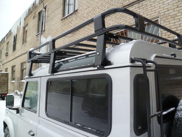 Алюминиевый силовой багажник Land Rover Defender люкс