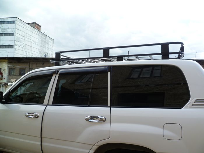 Алюминиевый силовой багажник Toyota Land Cruiser люкс