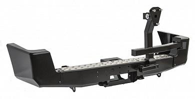 Бампер задний УАЗ Патриот с площадкой под лебедку и калиткой стандарт