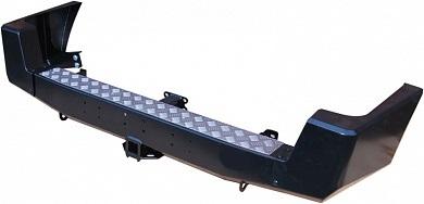 Бампер задний УАЗ Патриот с квадратом под фаркоп лифт/стандарт